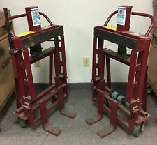 Pair of Wesco RNR-4P Rais-N-Rol Machinery Movers Capacity: 4000 lbs, Lift: 12
