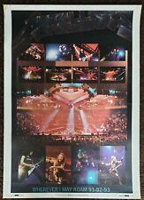 Vintage METALLICA Poster 1991 Wherever i may Roam tour poster original RaRe !!!