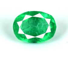 Green Emerald Zambian Loose Gemstone 8-10 Carat Natural Oval Cut AGI Certified