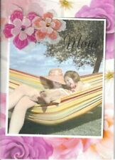 Papyrus  Mother's Day card   Mom & Daughter in colorful hammock -wonderful love