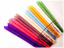 16 Conical Wax Sticks for aroma therapy color & sense (8 Pair) bee wax natural
