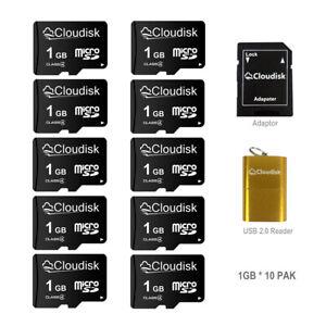10Pcs/Lot Cloudisk Micro SD Card 32GB C10 + Adapter + USB Card Read Memory 128MB