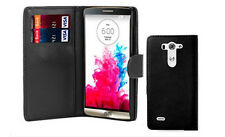 Premium Leather Flip Book Wallet Case Cover For LG G2 G3 Free Tempered Glass