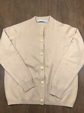 ballantyne cashmere sweater Size 42 Camel Color Gold Buttons Scotland
