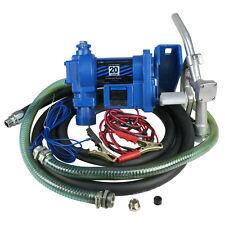12V DC Electric Fuel Transfer Pump Diesel Kerosene Oil Commercial 20 GPM