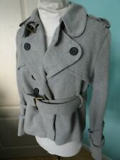 All Saints 2 in 1 grey trench jacket size 14
