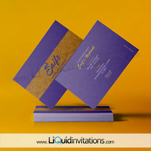 Islamic personalised Mehndi wedding gift Nikah Card