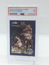 1992 Fleer Team Leaders Michael Jordan PSA 7 TOUGH GRADE!!