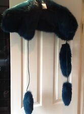 Genuine gucci Runway fox fur scarf with dangles so stunning