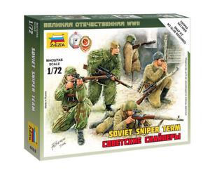 Zvezda 1/72 Figures Soviet Sniper Team Z6193