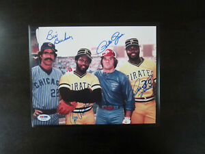 Pete Rose Philadelphia Phillies Autographed 8 x 10 Swinging Photograph Fanatics Authentic Certified