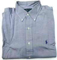 Mens Ralph Lauren Shirt NEW Classic Fit L/S Solid Grey Size 16/M