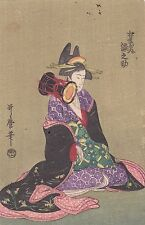 UTAMARO - OIRAN - ukiyo-e ESTAMPE JAPONAISE AUTHENTIQUE original japan woodblock