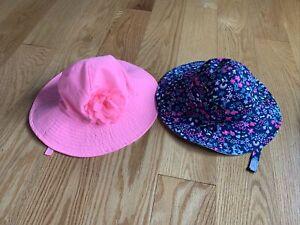 (2) girls sun hats carters 12-24