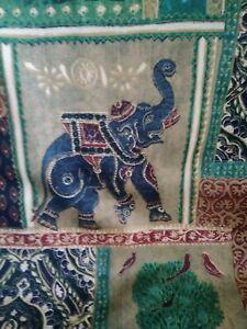 "Green Raj oblong cushion cover 24""x17"" boho hippy festival"