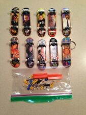 (9) Vintage WWF Siilar Device Fingerboards, Mini Skateboards, Extra Parts, Bonus