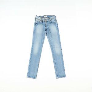 Levi's 571 Slim Fit D'Occassion (Cod.B481) W26 L34 Taille Basse Femme Jeans en