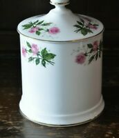 CROWN STAFFORDSHIRE Lovely Floral Pattern Lidded Tobacco Jar - 19cm Tall