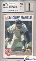 1997 Scoreboard #69 Mickey Mantle YANKEES WORN JERSEY Beckett 10 MINT GGUM