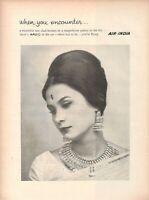 1963 Rare Original Advertising' Vintage AIR INDIA airline when you encounter