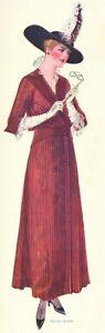 "Circa Jan 1915 McCall Edwardian 3 piece circular skirt pattern 24"" Waist 39"" Hip"