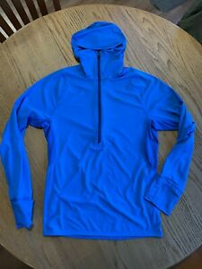 Patagonia - Men's All Weather Zip Neck Hoodie - Small - Blue