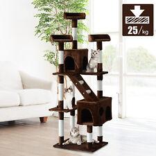 Árbol para gatos Rascador Grande con Plataformas Casetas Escalera 182cm Cubierto