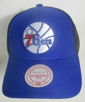 Philadelphia 76ers Hat Mitchell & Ness NBA Adjustable Snapback Trucker Cap