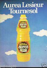 Publicité advertising 1980 Huile de Tournesol Aurea Lesieur