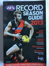 AFL Collectable 2013 Season Guide Jobe WATSON  Brownlow complete history stats