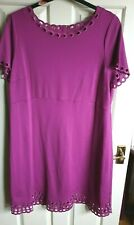 Marks & Spencer Size 20 purple lined with eyelet design dress NWOT FREE P&P