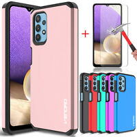For Samsung Galaxy A32 5G Case Shockproof TPU Armor Cover/Glass Screen Protector