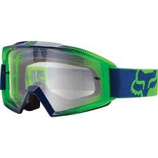 FOX MAIN MOTOCROSS MX GOGGLES RACE 2 NAVY GREEN tear-off enduro mtb bike BLUE
