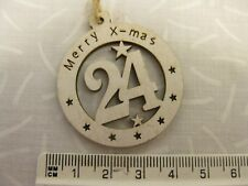 Lovely wooden advent calendar numbers 1 to 24 brilliant for cards, crafting more