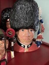 Royal Doulton Jug - The Guardsman - Prototype Sword And Union Jack Handle