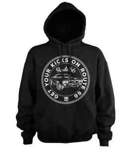 Get Your Kicks on ROUTE 66-Mens Hoodie Hooded Sweater (S-5XL)