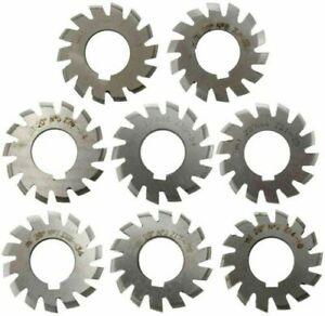 1Set 8pcs Module 0.8 PA20 Bore22 #1-8 Involute Gear Cutters