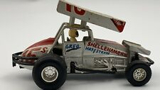 Vintage MC Toy Sprint Car Custom Painted Pull back Outlaw Greg Black Autographed