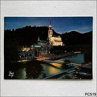 Nos Belles Pyrenees Lourdes Illuminated Basilica Postcard (P519)