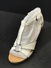 Aerosoles Plush Ahead White Womens Wedge Sandals Size US 9.5 M
