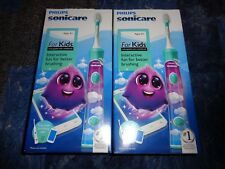 Lot 2 Philips Sonicare For Kids Interactive Rechargeable Electric Toothbrushes