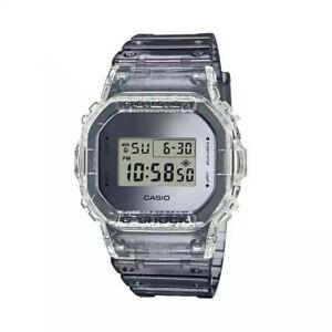 NEW G-Shock DW5600SK-1 Digital Clear Gray Resin Strap Men's Watch