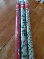 Lot of  Vintage Rolls Holly Christmas Wrapping Paper New  SEALED.