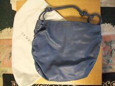 "Femmes Sac à main SEQUOIA en cuir bleu 17x14x4"" + poignée, grand sac cabas avec pochette 3344"