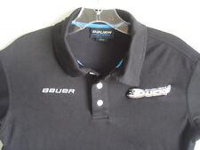 Bauer Team Anaheim Mighty Ducks Stitched Black Polo Shirt Mens XS Xtra Small NHL