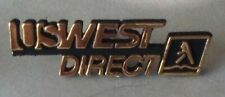 USWest Direct lapel jacket pin pre-owned Telephone White and Yellow Pages