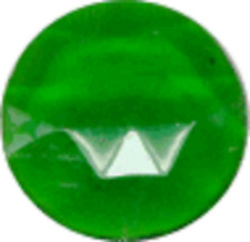 35mm green round faceted glass jewel flat back