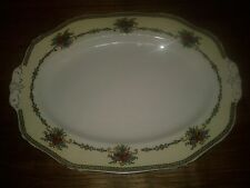 "ALFRED MEAKIN PLATTER HARMONY SHAPE FLORAL ROSES 12.5"" LENGTH"