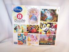 Mega Puzzles  - Disney's 8 Puzzle Collection Mickey, Cars, Pooh, Cinderella NEW!