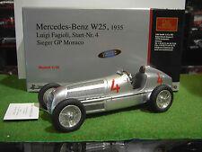 MERCEDES BENZ W25 de 1935 Luigi Fagioli #4 GP Mónaco en la 1/18 CMC M-104